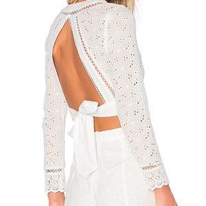Endless Rose white open back crop top